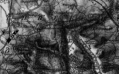 Old map of Coombe in 1895