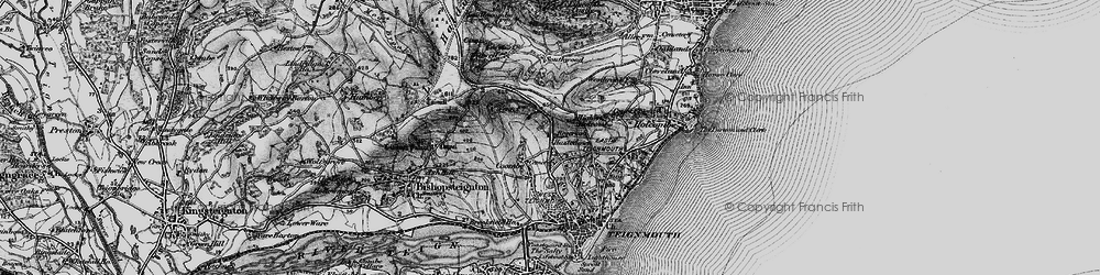 Old map of Westbrook in 1898