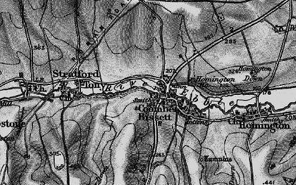 Old map of Coombe Bissett in 1895