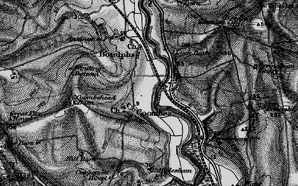 Old map of Winding Bottom in 1895