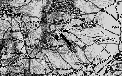 Old map of Cooper's Green in 1896