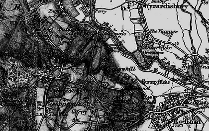 Old map of Cooper's Hill in 1896