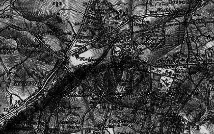 Old map of Coopersale Common in 1896
