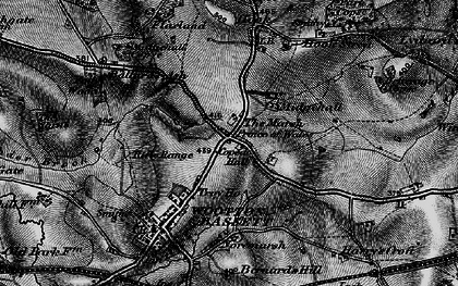Old map of Woodshaw in 1898