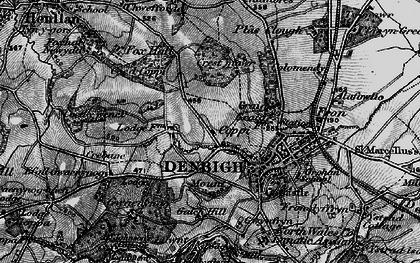 Old map of Copenhagen in 1897