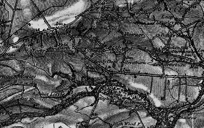 Old map of Wheatley Wood in 1897