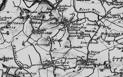 Old map of White Crosses in 1896