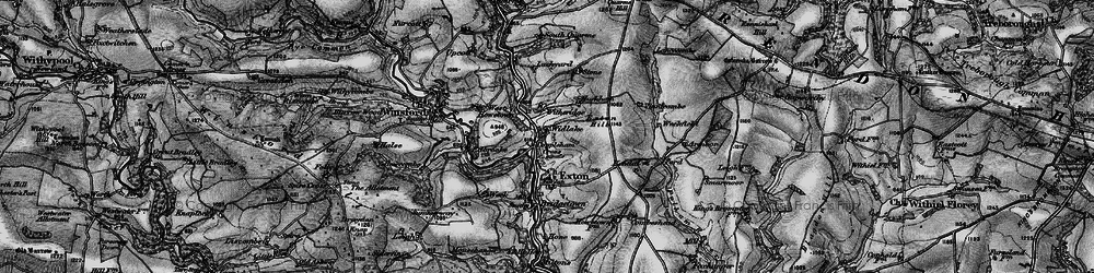 Old map of Widlake in 1898