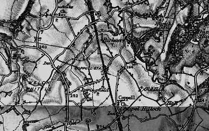 Old map of Coppull in 1896