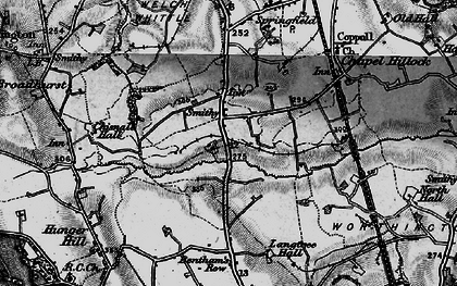 Old map of Langtree Old Hall in 1896