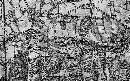Old map of Copthorne Bank in 1895