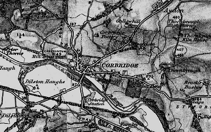 Old map of Corbridge in 1898