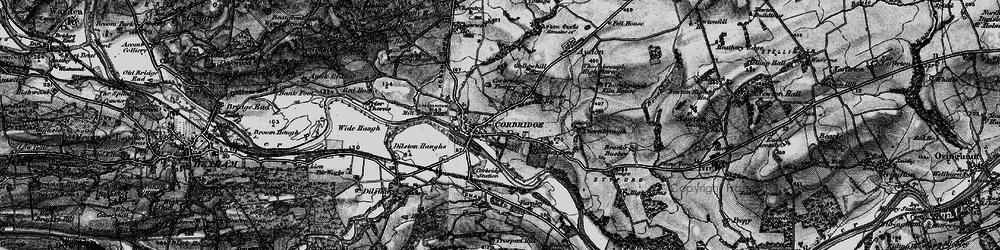 Old map of Corbridge in 1898
