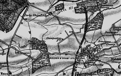 Old map of Corby in 1898
