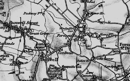 Old map of Banyards Hall in 1898