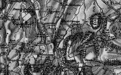 Old map of Corfe in 1898