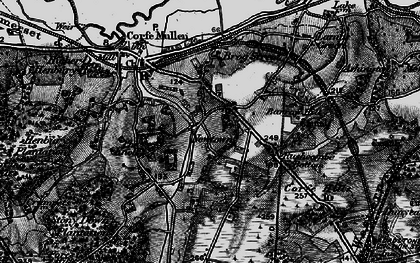 Old map of Corfe Mullen in 1895