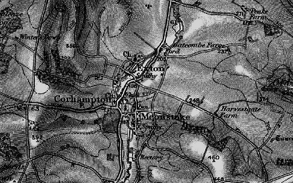 Old map of Corhampton in 1895