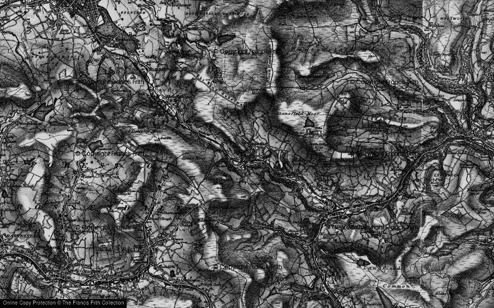 Old Map of Cornholme, 1896 in 1896