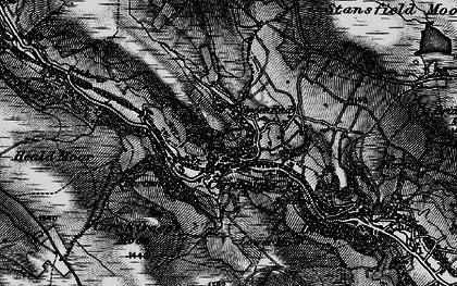 Old map of Cornholme in 1896