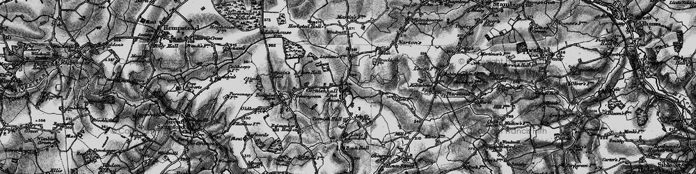 Old map of Tinkers Green in 1895