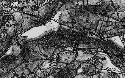 Old map of Cornsay Colliery in 1898