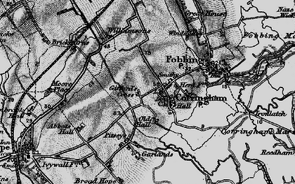 Old map of Corringham in 1896