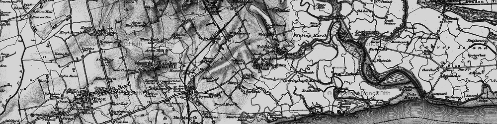 Old map of Corringham in 1896