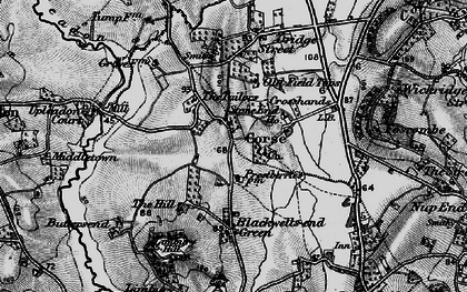 Old map of Limbury Hill in 1896