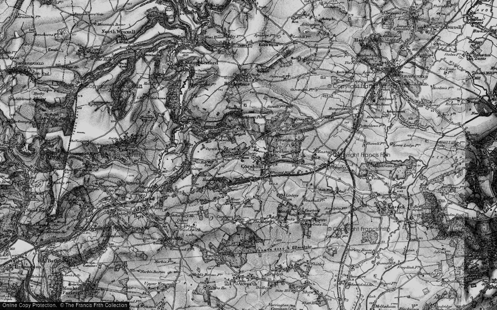 Old Map of Corsham, 1898 in 1898