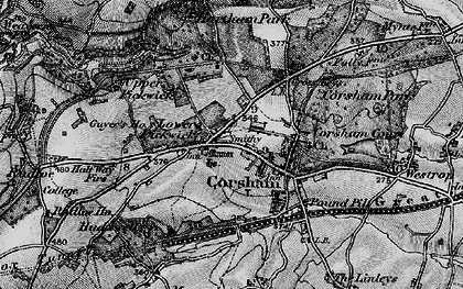 Old map of Corsham in 1898