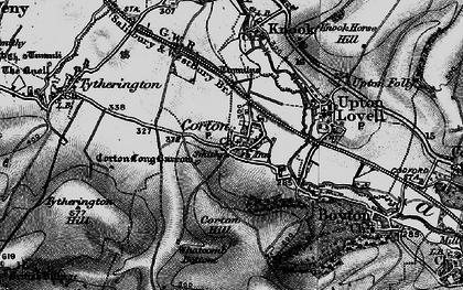 Old map of Whatcomb Bottom in 1898