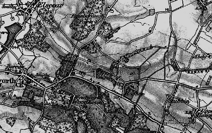 Old map of Lea Brook in 1896