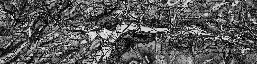 Old map of Corwen in 1898
