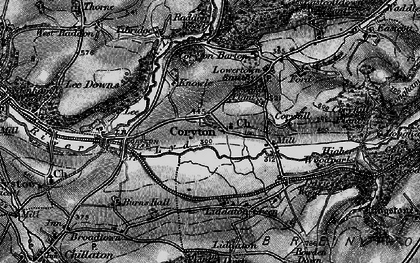 Old map of Lee Downs in 1896