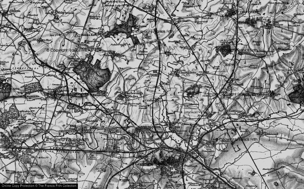Old Map of Historic Map covering Lower Lodge Fm in 1898