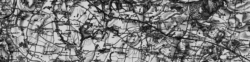 Old map of Cosford in 1899