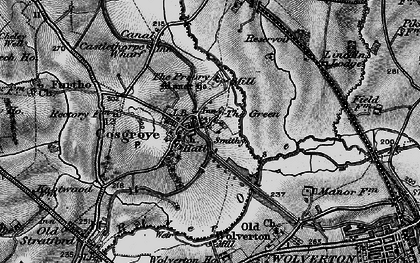 Old map of Cosgrove in 1896
