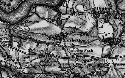 Old map of Bangeston Hall in 1898
