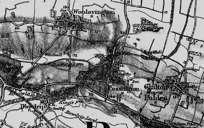 Old map of Cossington in 1898