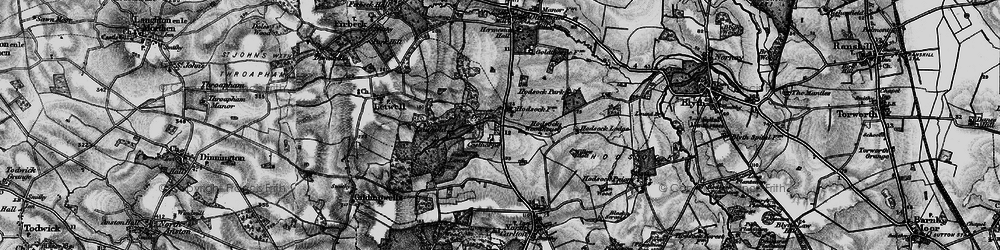 Old map of Langold Country Park in 1895