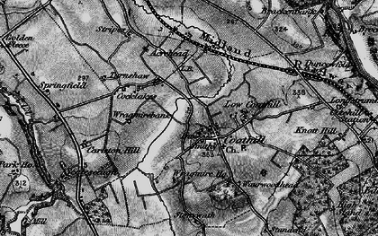Old map of Wragmire Moss in 1897
