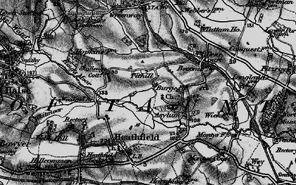 Old map of Tithill in 1898