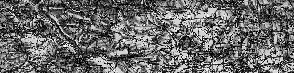 Old map of Tone Vale in 1898