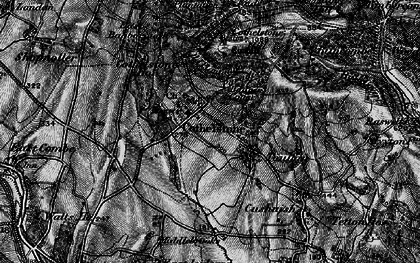 Old map of Cothelstone in 1898