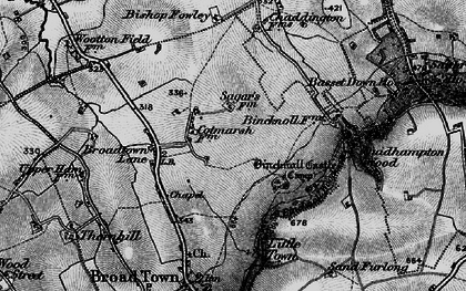 Old map of Wootton Meadows in 1898