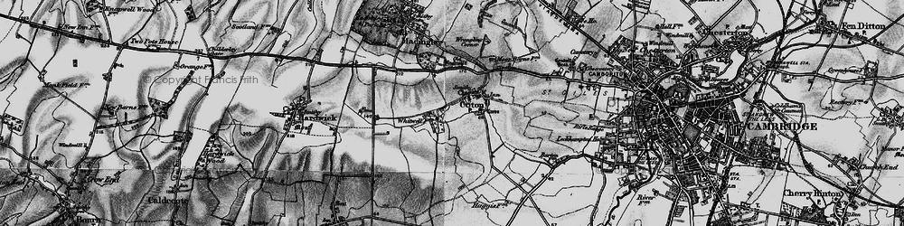 Old map of Wheatcases in 1898