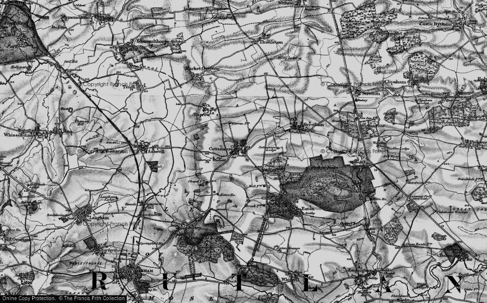 Old Map of Cottesmore, 1895 in 1895