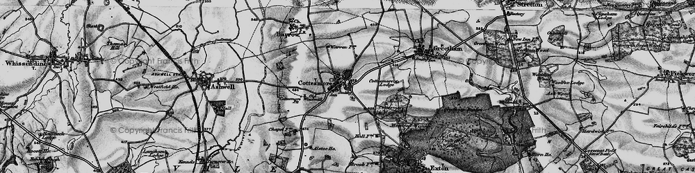 Old map of Cottesmore in 1895