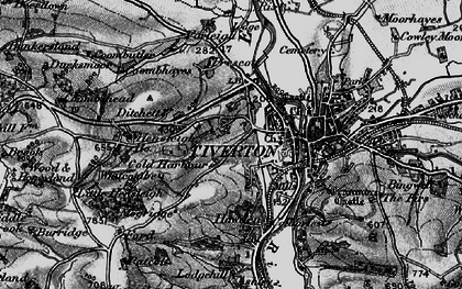 Old map of Whitcombe in 1898